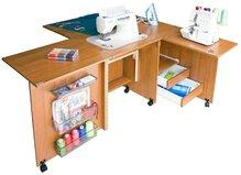 Стол для шитья Комфорт-5+ (с дополнительной поверхностью для раскроя ткани)